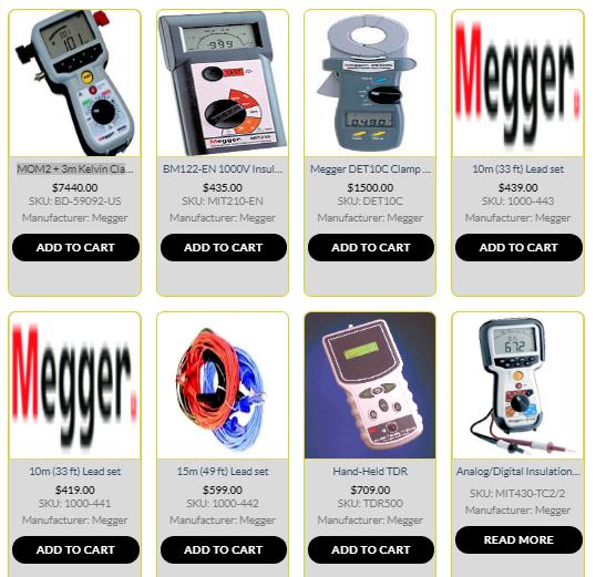 Megger Electrical Test Equipment Micro Ohmmeter Meg Ohmmeter Insulation Earth Tester Earthing Grounding Insulation Test