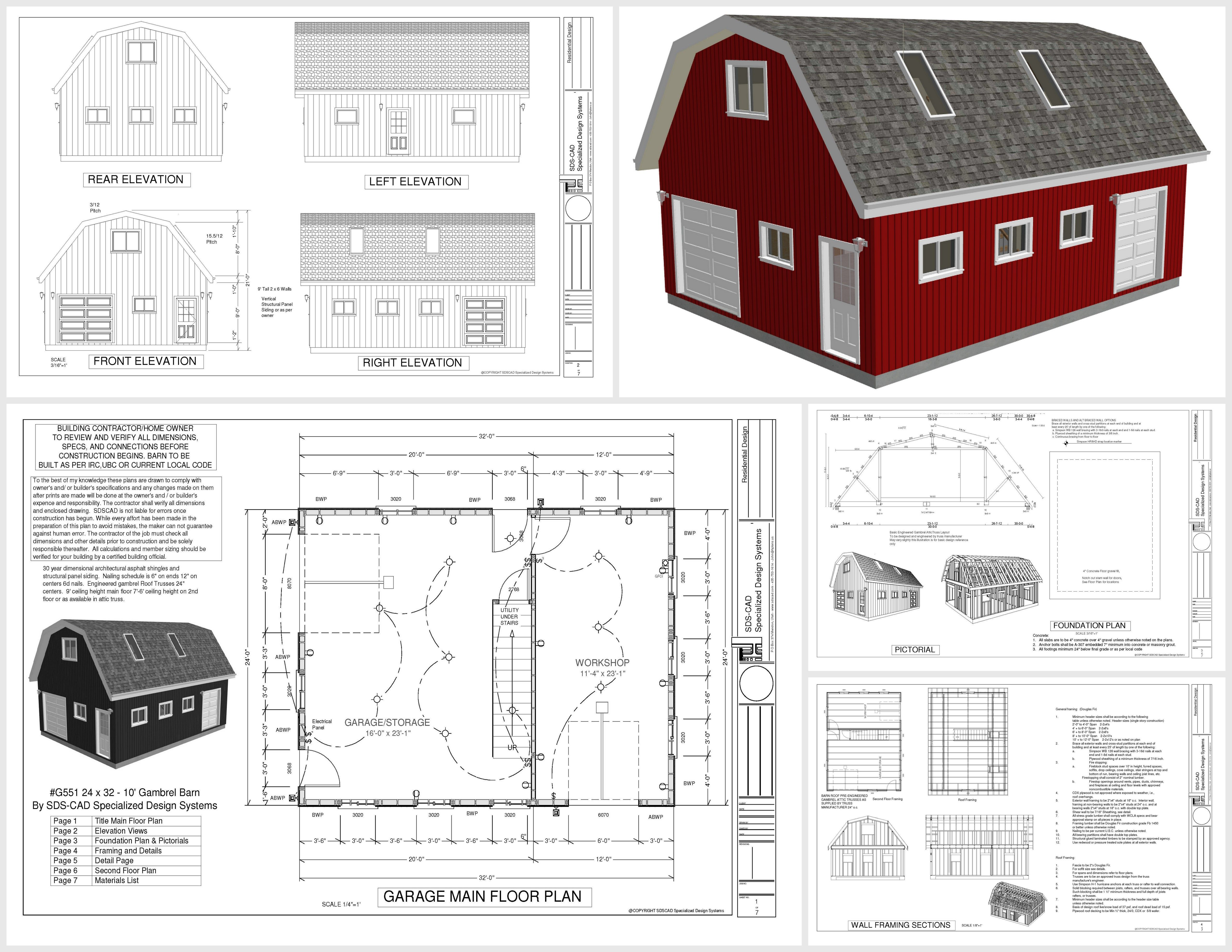 Gambrel barn plans with living quarters for Gambrel barn plans with living quarters