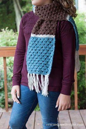 Free Simple Granny Scarf Crochet Pattern