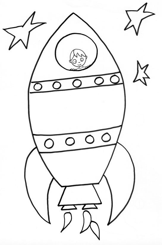 Coloriage Simple Fusee.Epingle Par Cathy Miller Sur Class Astronaut Drawing Craft
