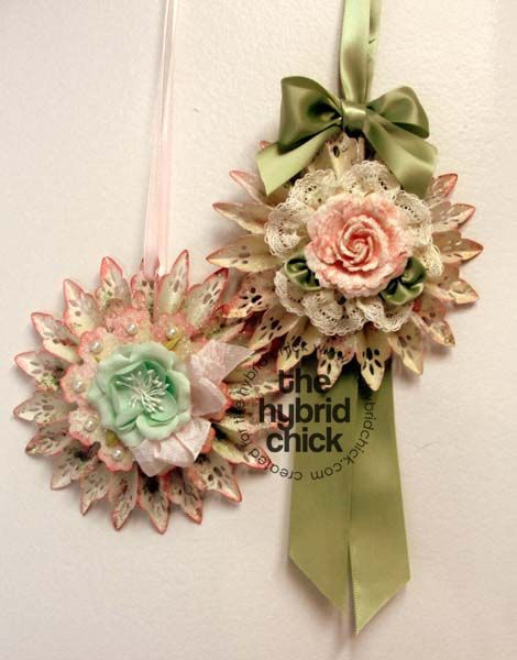 rosette ornament tut would make incredible package toppers