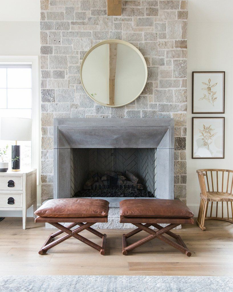 Winslow Stool Mcgee Co Fireplace Seating Fireplace Design Home Fireplace