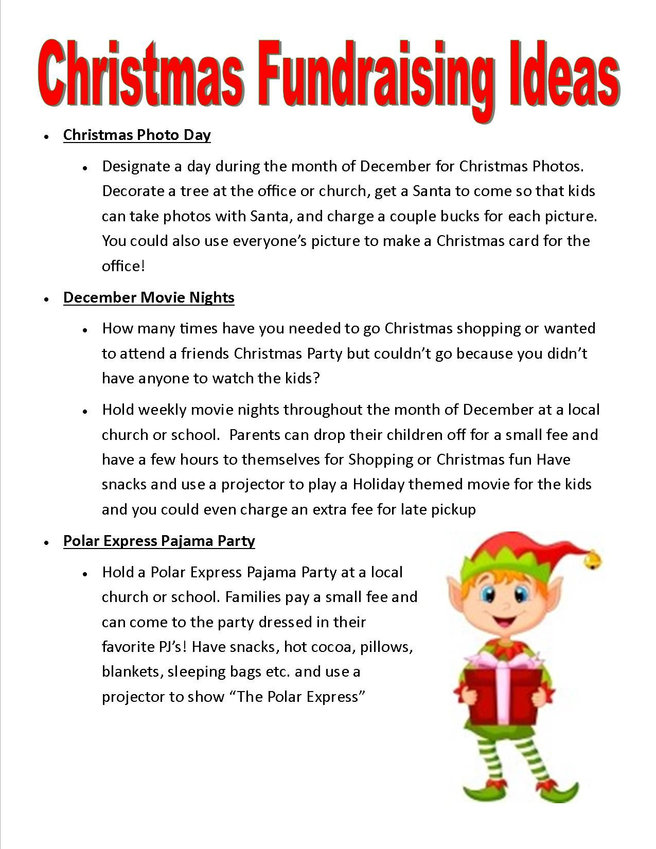 relay for life christmas fundraising ideas