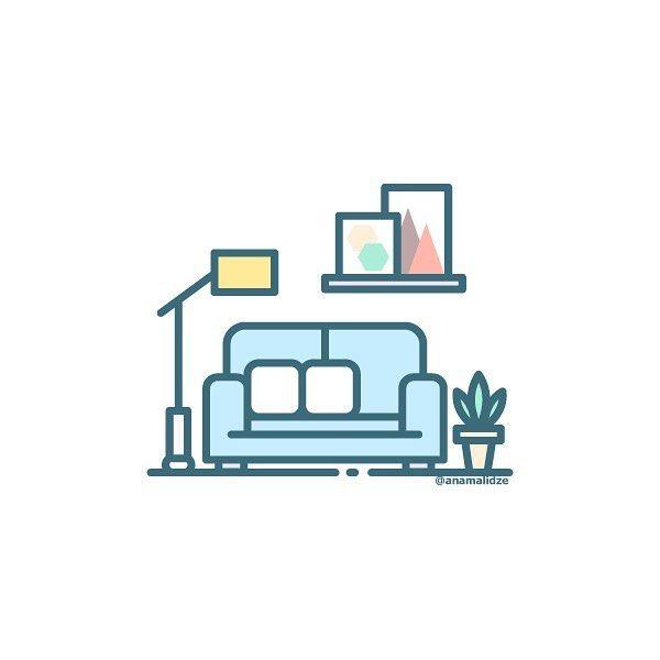222 Likes 5 Comments Asya Malysheva Asyamalysheva On Instagram Living Room Couch House Icon Plant Room Sofa Icon Design Home Icon Design