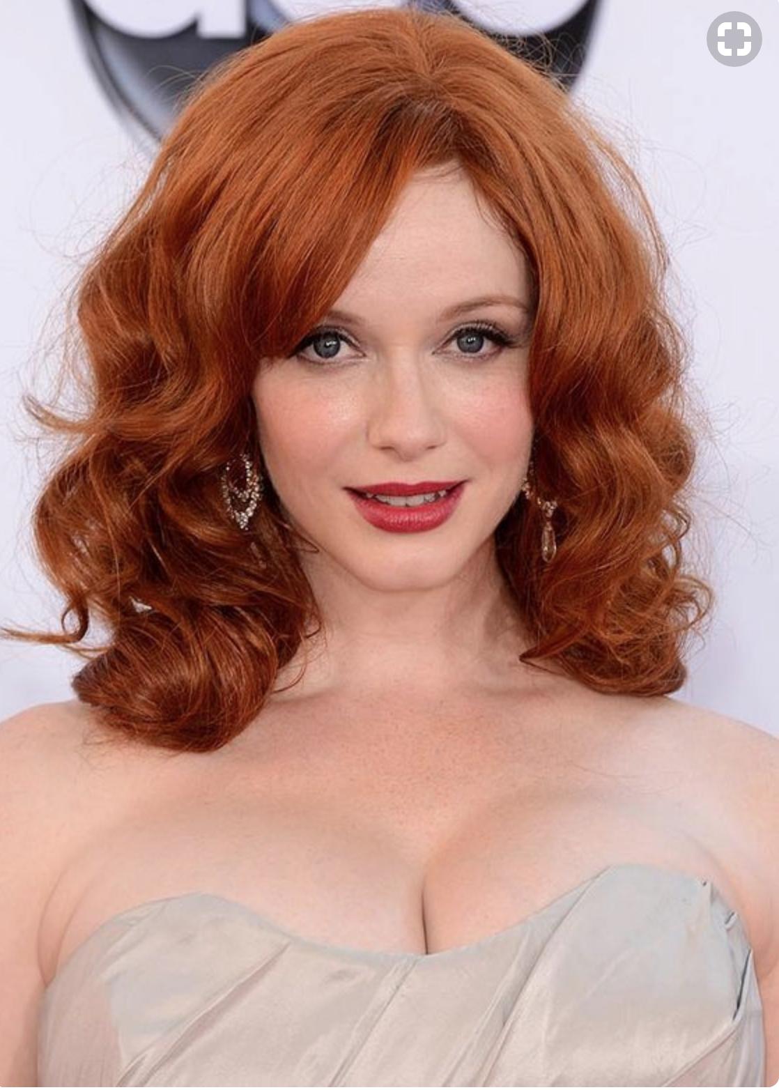 Christina Hendricks Dark Red Hair Red Hair Beautiful Red Hair