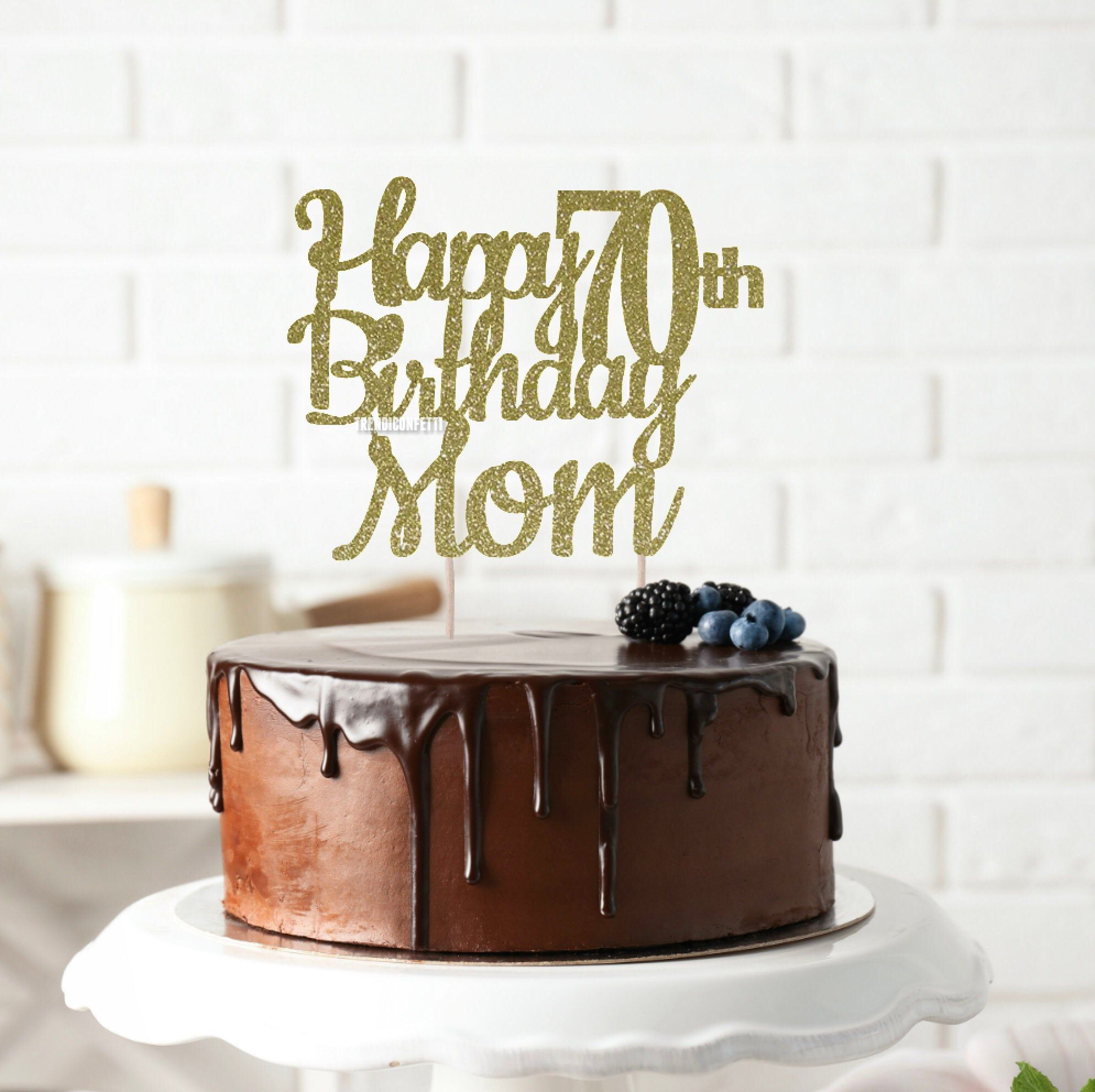 Amazon Com Alpha K Gg 70th Birthday Cake Topper Happy 70th Birthday Cake Topper 70th Birthday Party Decorations Toys Games