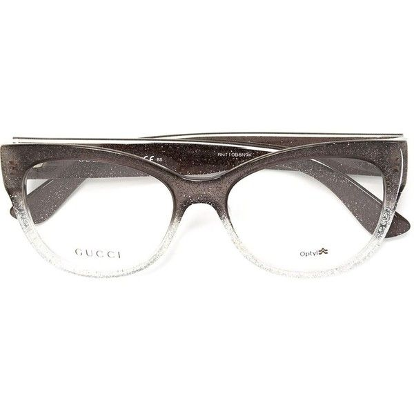 97c89b16626 Gucci cat eye frame glasses (23.945 RUB) ❤ liked on Polyvore featuring  accessories