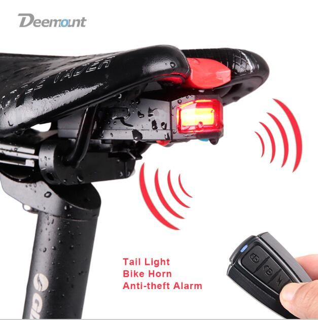 Bicycle Rear Light Anti Theft Alarm Usb Charge Wireless Remote