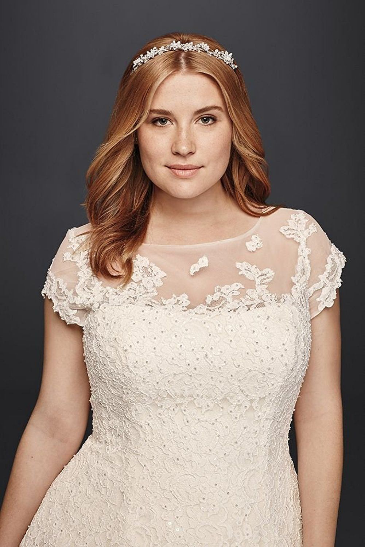 Affordable plussized wedding dresses lace plus size short oleg