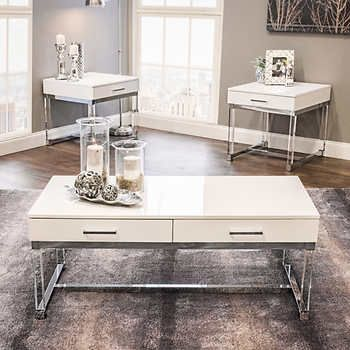 Best Whitehaven 3 Piece Occasional Table Set Occasional Table 400 x 300