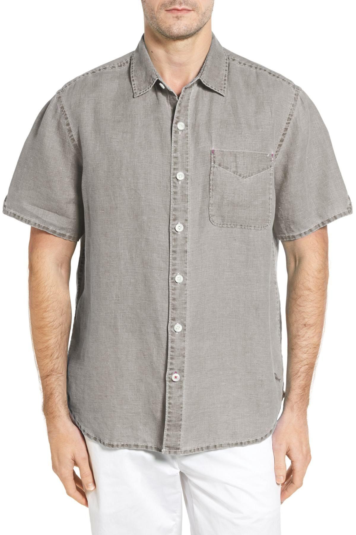 TOMMY BAHAMA Seaglass Breezer Short Sleeve Linen Sport