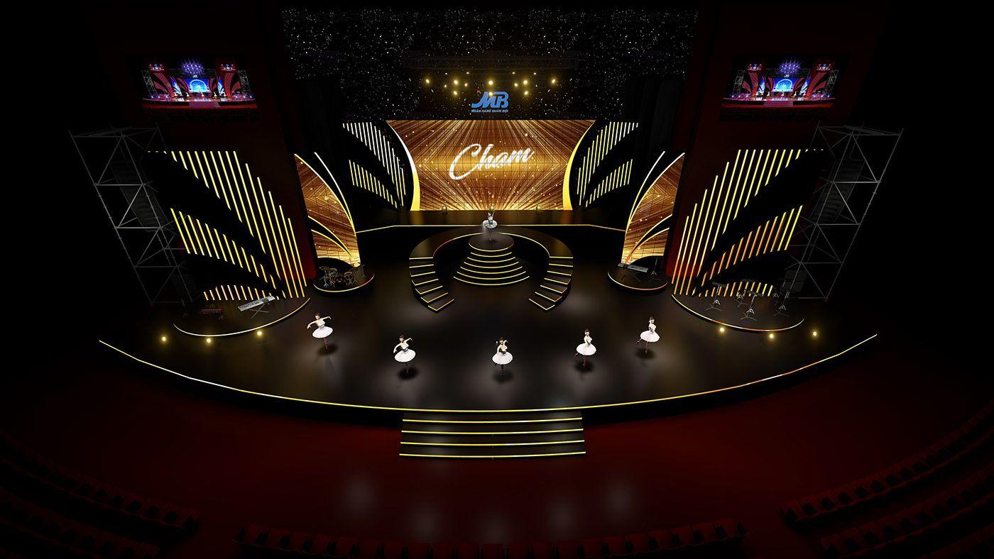 Mb Bank Ncc Ha Nội On Behance Stage Backdrop Stage Design Design Art
