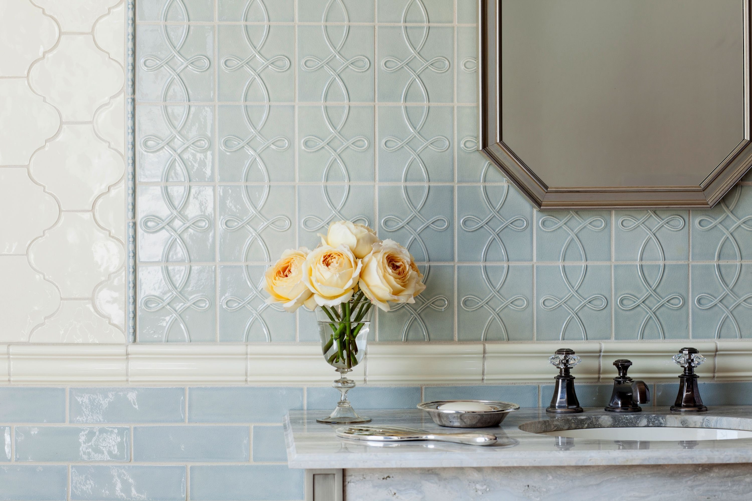 Tuilleries collection from wz loire blue and pastis walker love the tile combos dailygadgetfo Gallery