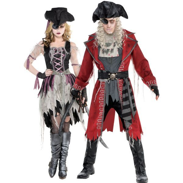 Adult Zombie Pirates Couples Costumes  c9b9e0202934