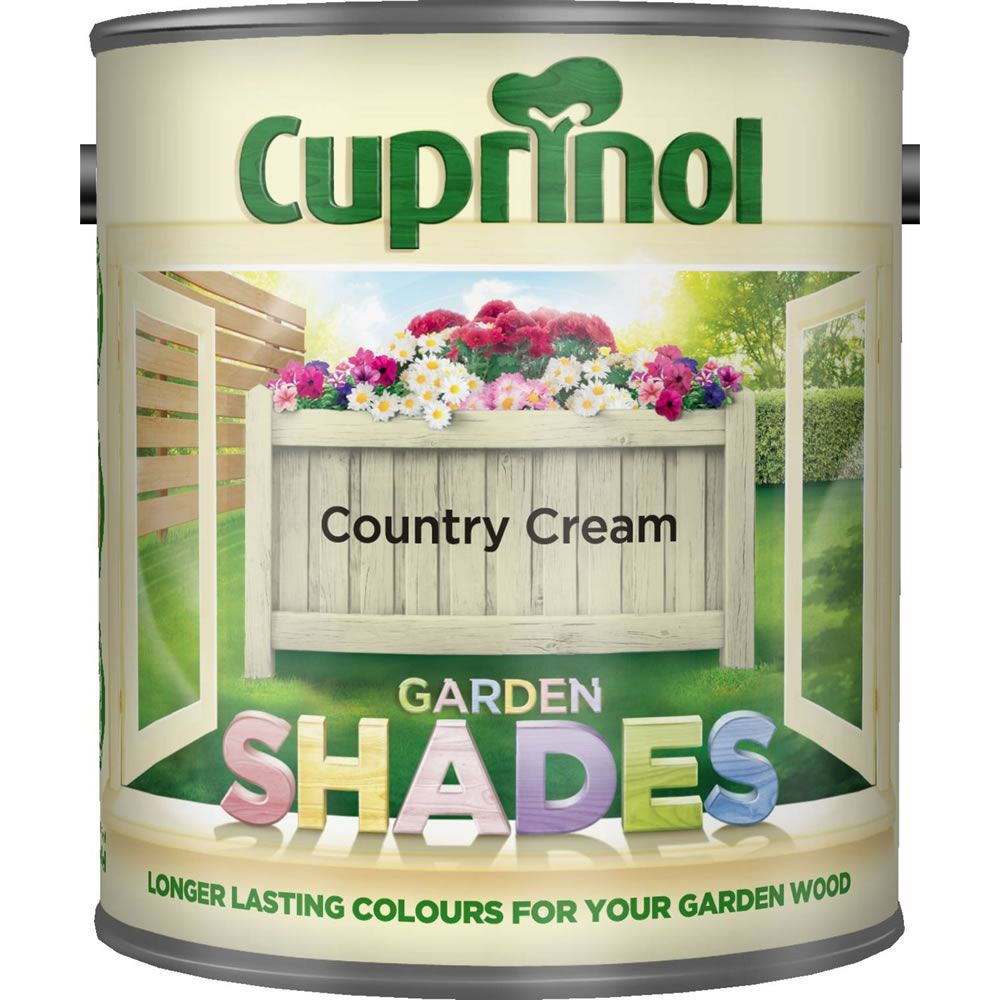 Cuprinol Garden Shades Country Cream Exterior Paint 1L