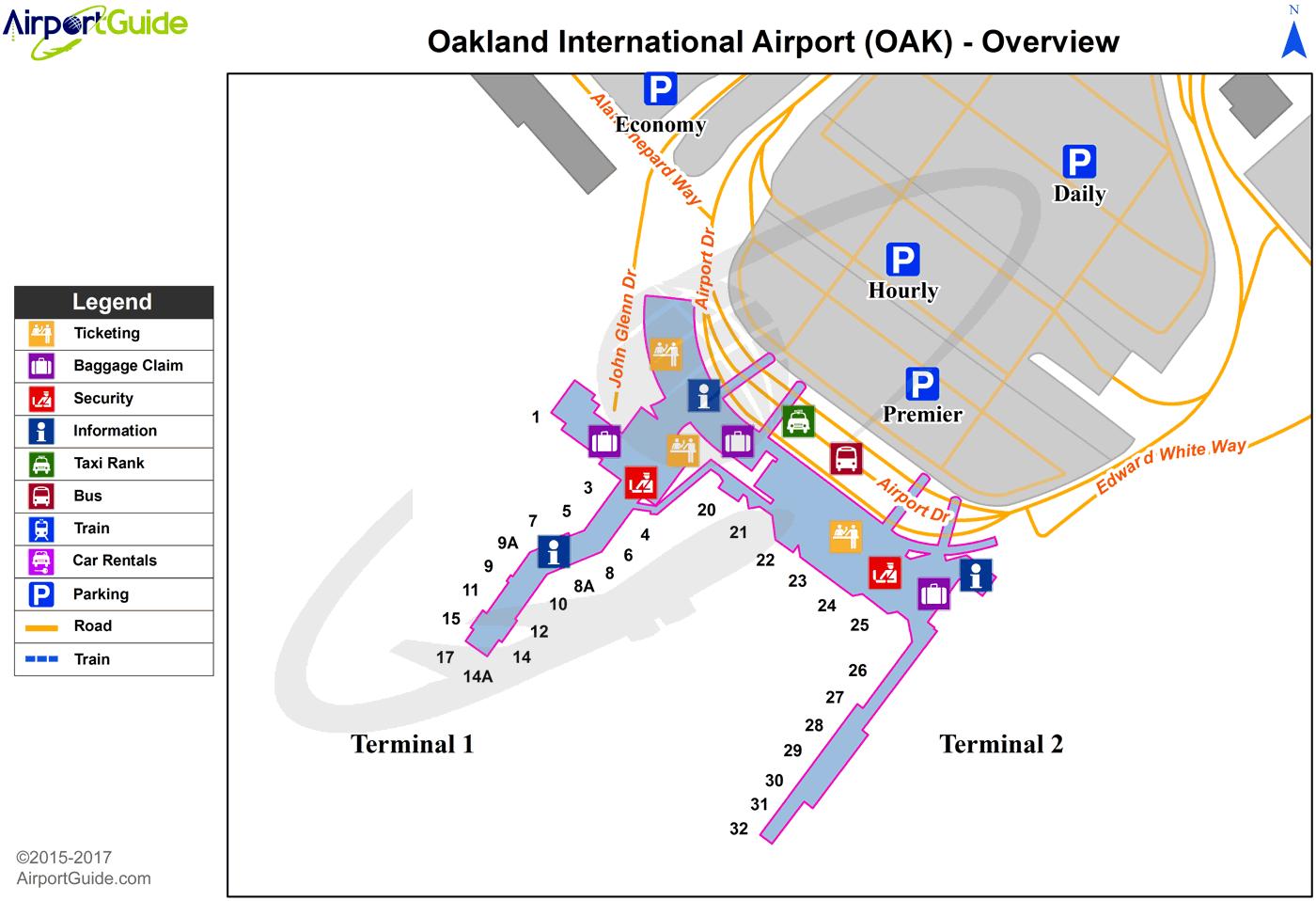 map of oakland airport Oakland Metropolitan Oakland International Oak Airport map of oakland airport
