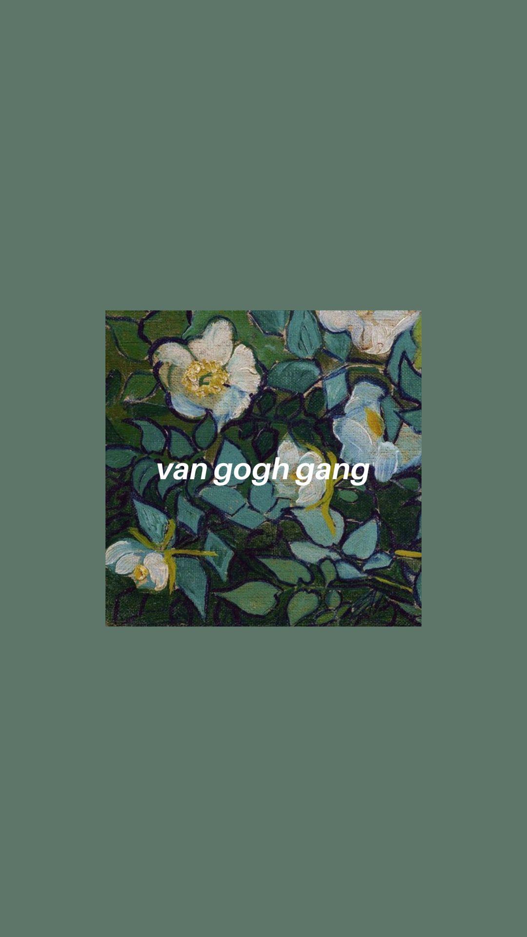green Van Gogh art hoe iPhone wallpaper aesthetic artsy