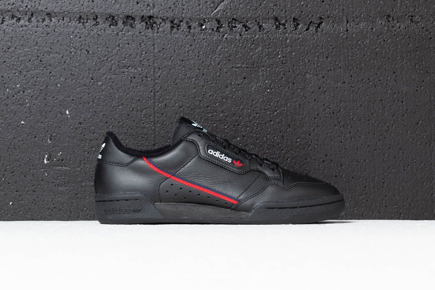 outlet on sale vast selection quite nice adidas Continental 80 Core Black/ Scarlet/ Collegiate Navy ...