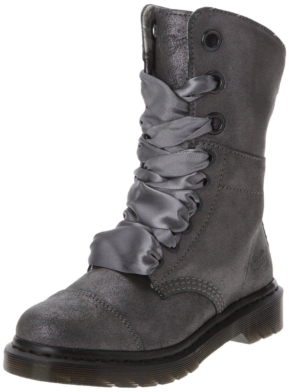 Dr Martens AIMILIE Suede PEWTER | Schuhe high heels pumps