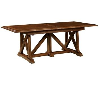 Chestnut  Trestle Dining Table At Deets Furniture Store