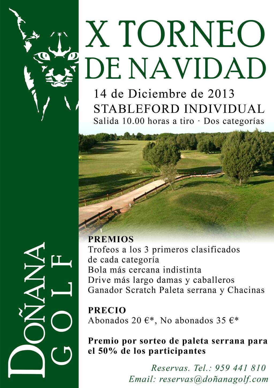 X TORNEO DE NAVIDAD DOÑANA GOLF