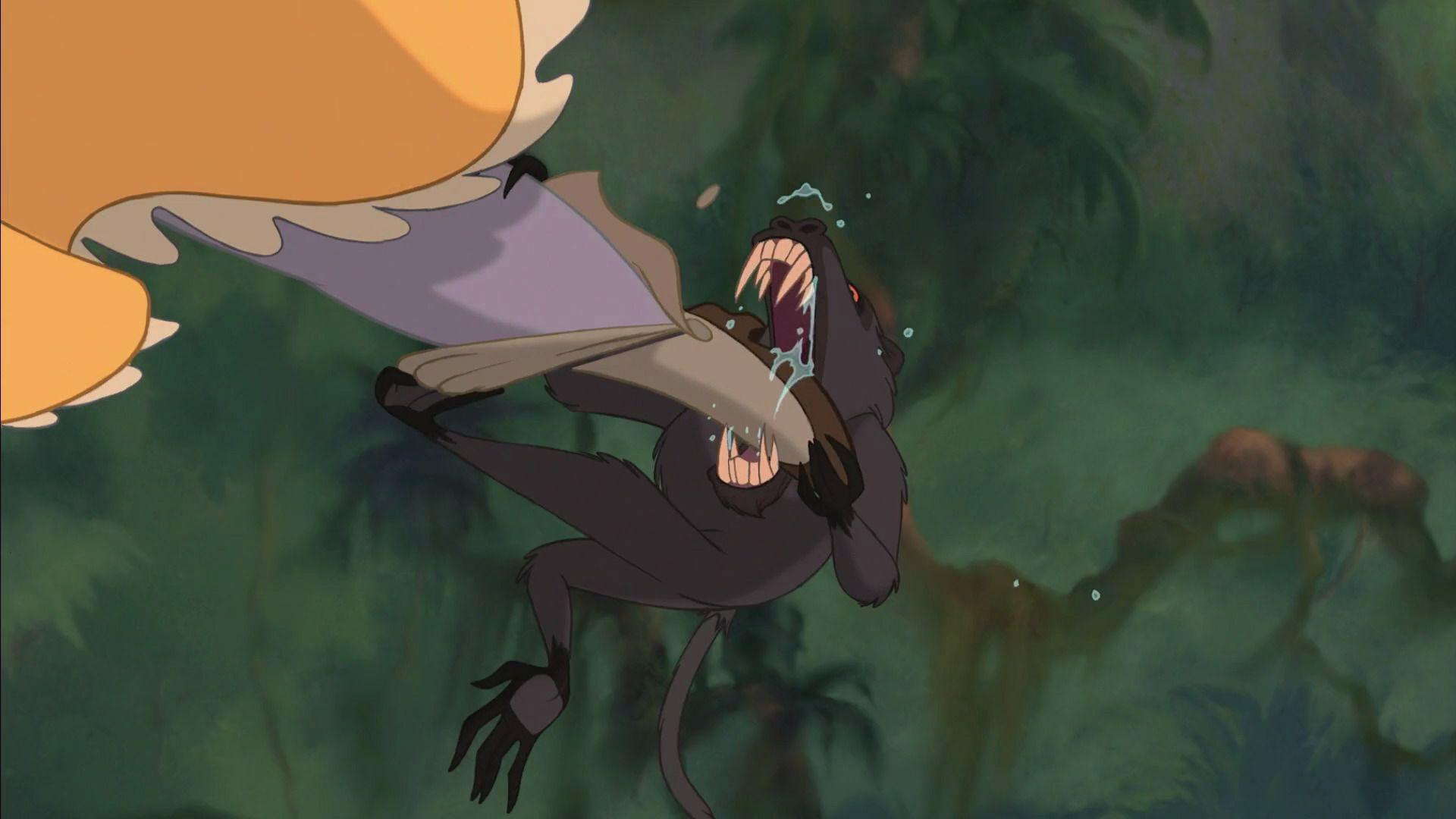 The Baboon Biting Janes Foot  Baboon, Tarzan, Disney Movies-2380