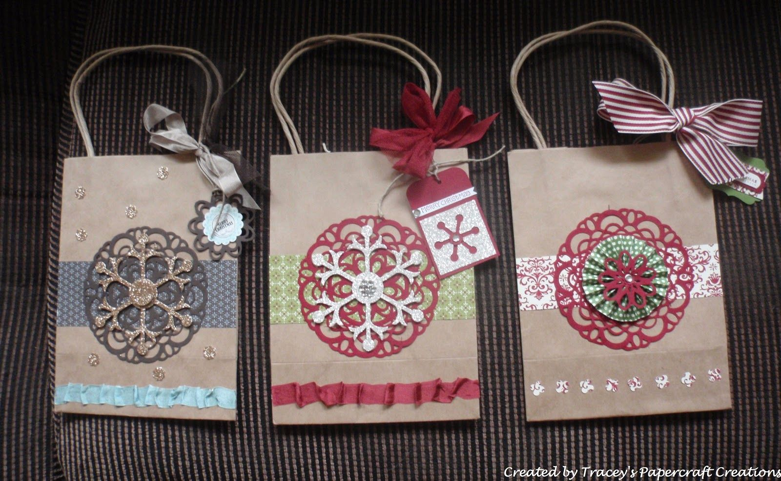 Decorated Brown Paper Bags For Christmas Brown Bags Diy Gift
