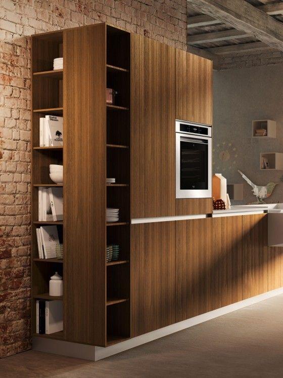Kompaktes Küchendesign Snaidero schrankeinheit regale holz board - kompakte kuche snaidero board