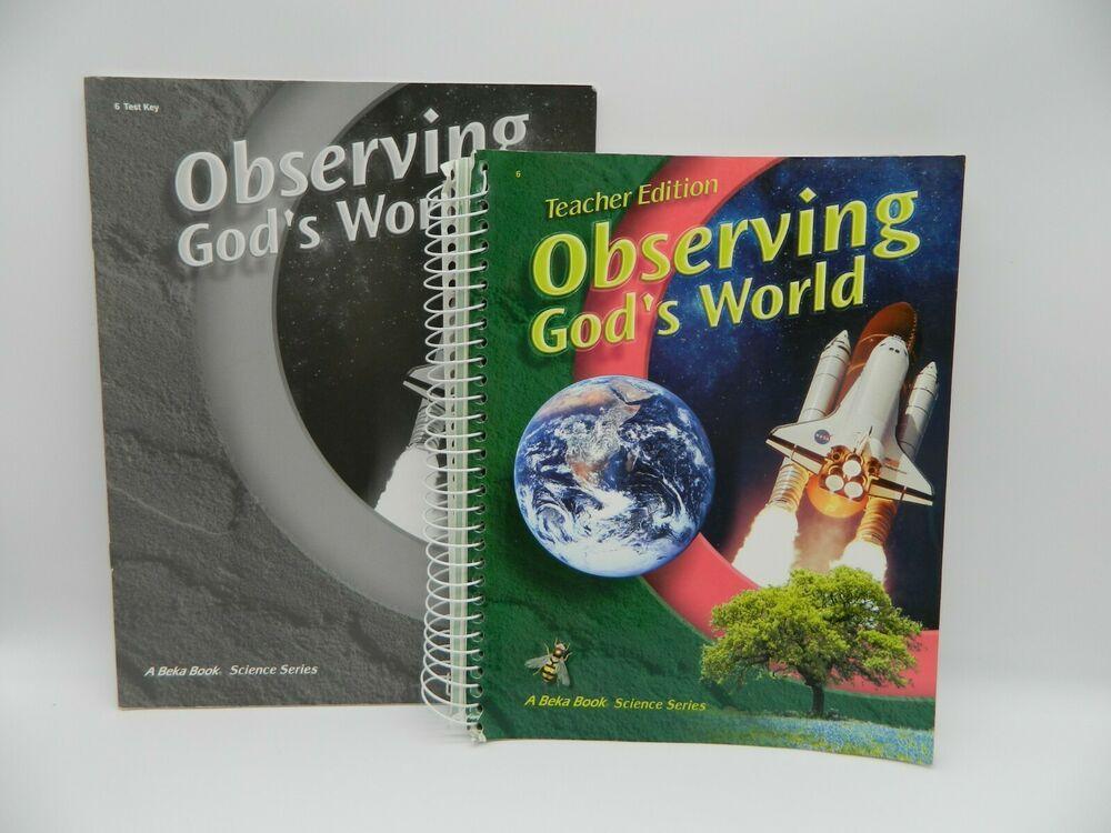 Abeka observing gods world teacher ed science