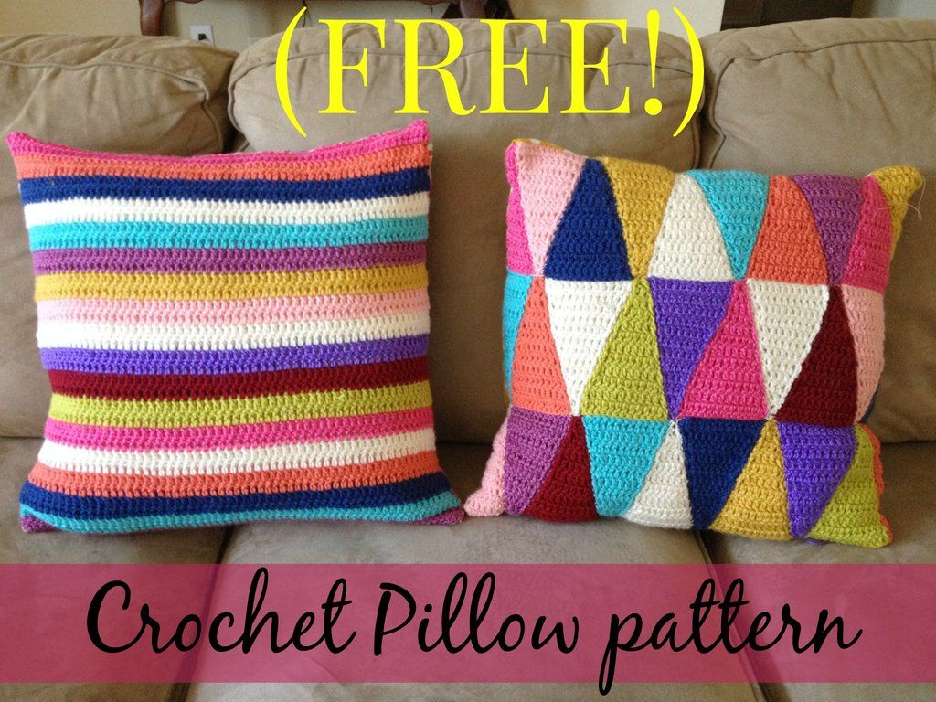 Free crochet stripped pillow pattern crochet pinterest free free crochet stripped pillow pattern bankloansurffo Image collections