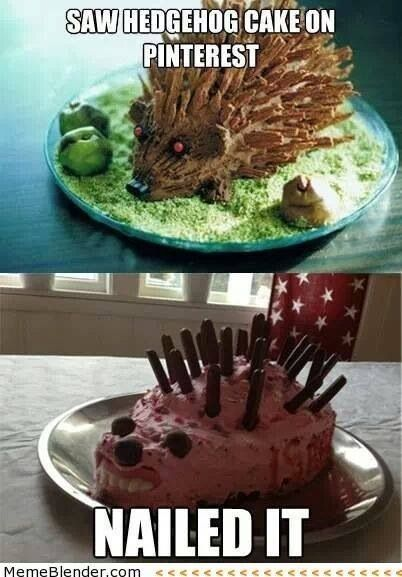Nailed It Cakes : nailed, cakes, Hedgehog, Cake., Nailed, Pinterest, Funny, Fails,, Baking, Fails