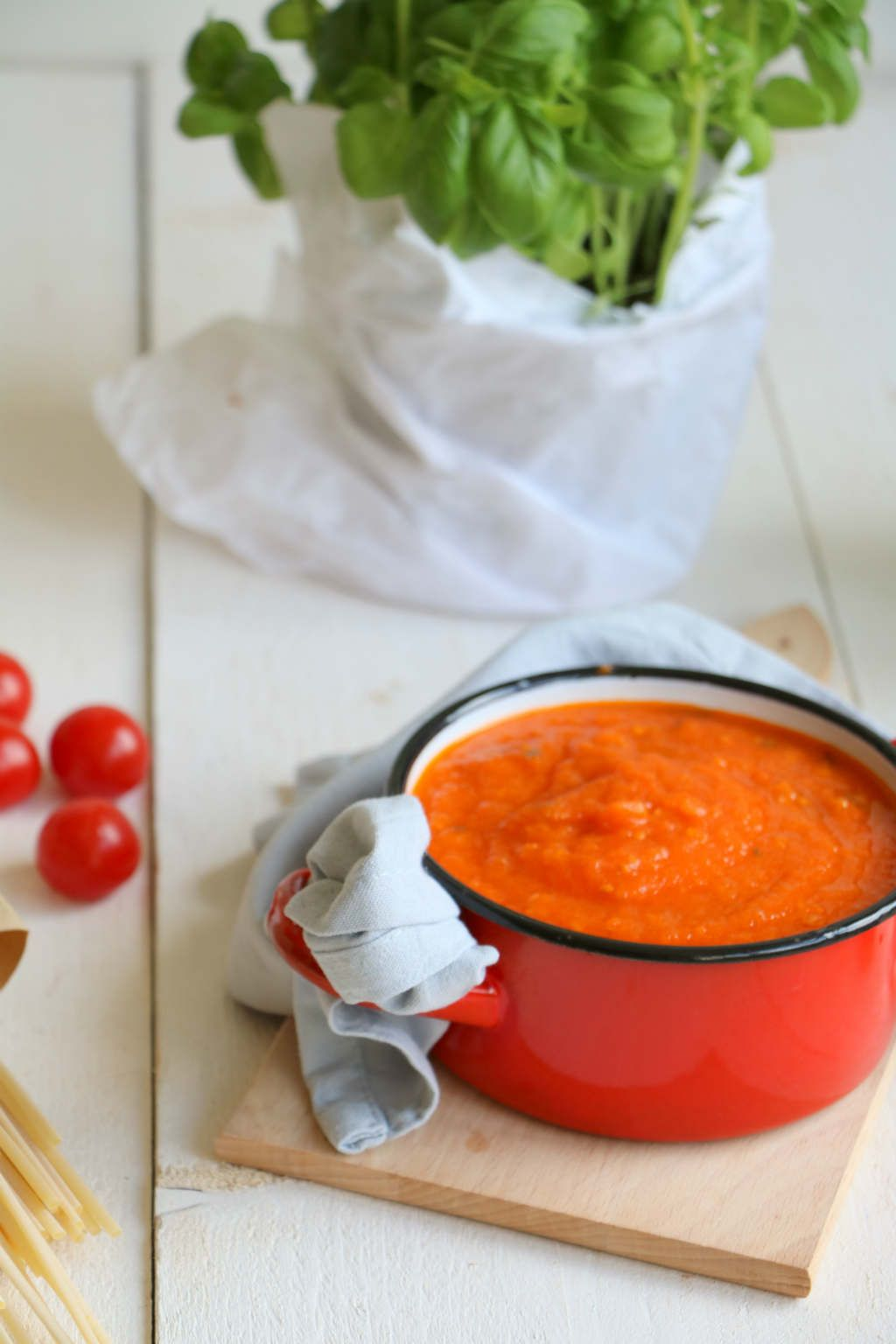 pastasaus zelf maken verse tomaten