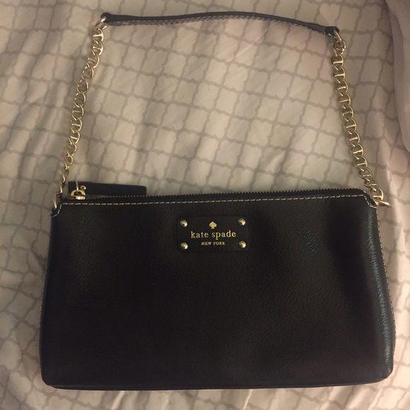 Kate Spade Small Black Shoulder Bag | Bags, Black shoulder bag and ...