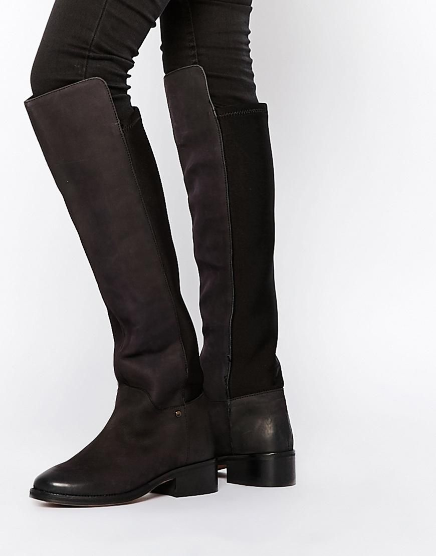Miss KG | Miss KG West Two Leather Over The Knee Boots at ASOS
