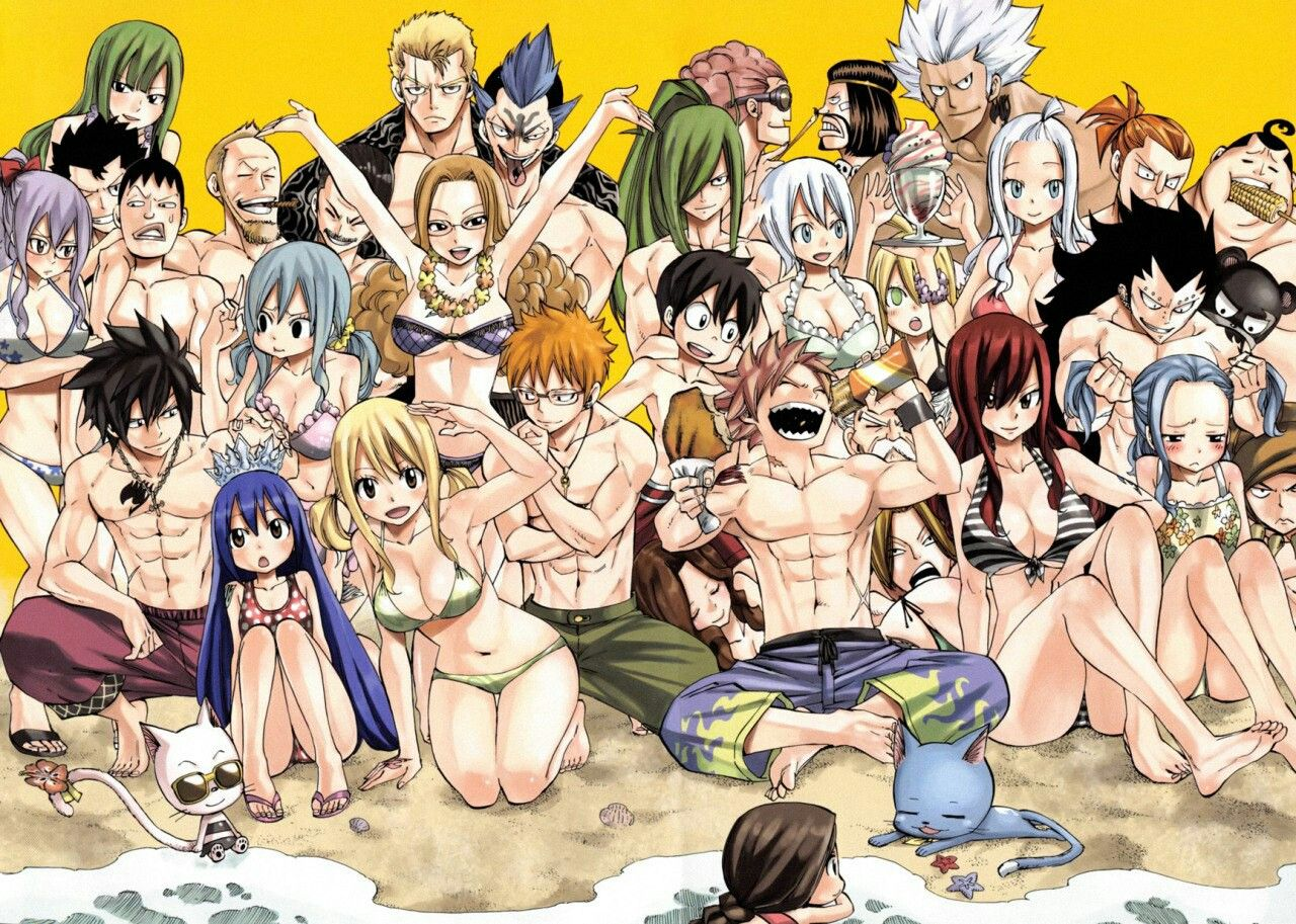 Fairy Tail In The Beach Mavis Macao Erza Mirajane Laxus Cana Elfman Free Fairy Tail Fairy Tail Manga Fairy Tail Characters Erza calls him out on his envy during their last fight. erza mirajane laxus cana
