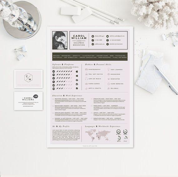 Resume CV Design Cover Letter Business Card by OddBitsStudio ...
