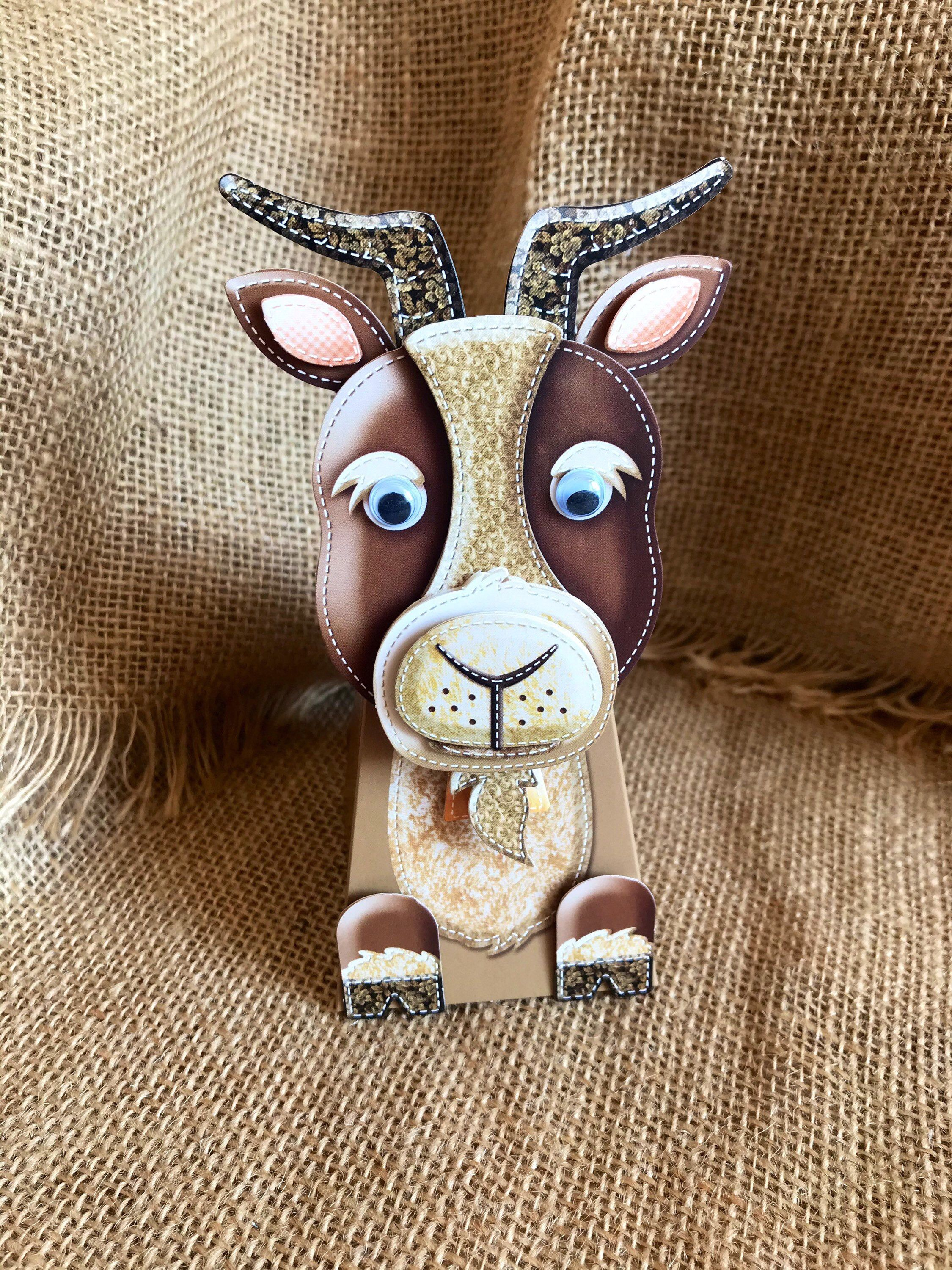 Goat popup standing card goat old got happy