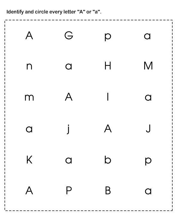 Learn Abc Worksheet1 Find And Circle The Letters Learning Abc Letter Recognition Worksheets Alphabet Worksheets