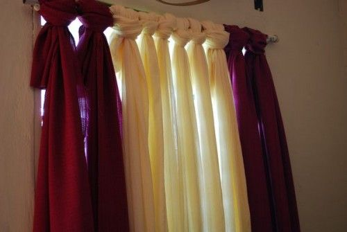 No-sew curtains I am so going to do this in my room