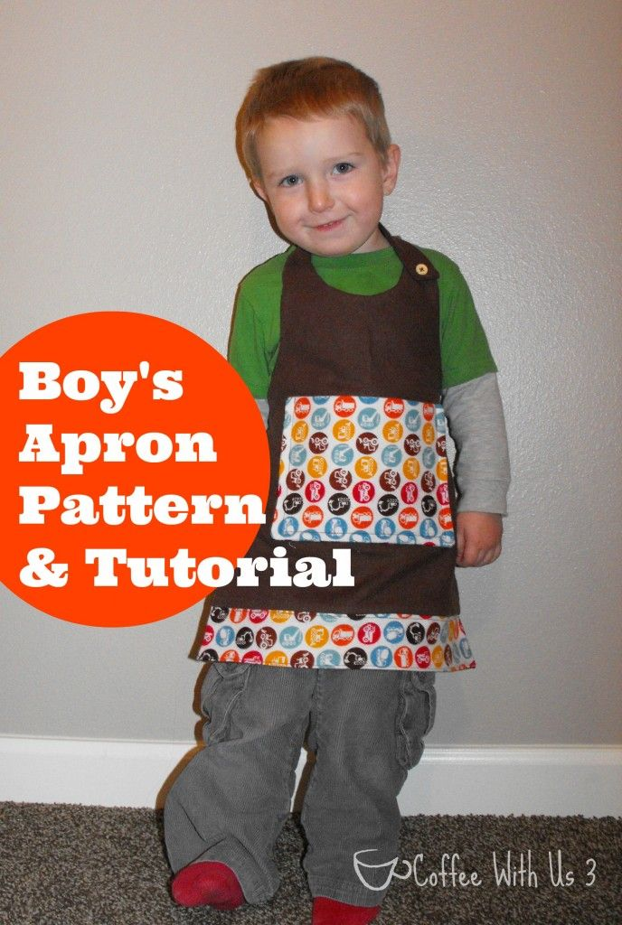 Boy\'s Apron Pattern & Tutorial- Free pattern and tutorial to make a ...