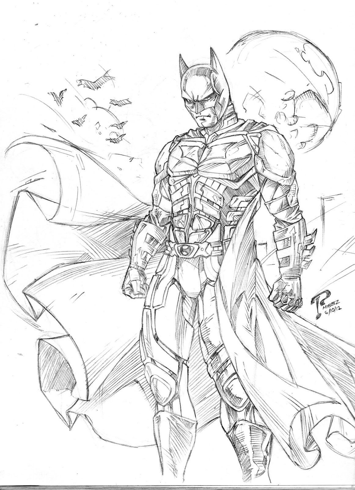 Dark Knight Coloring Pages Pictures