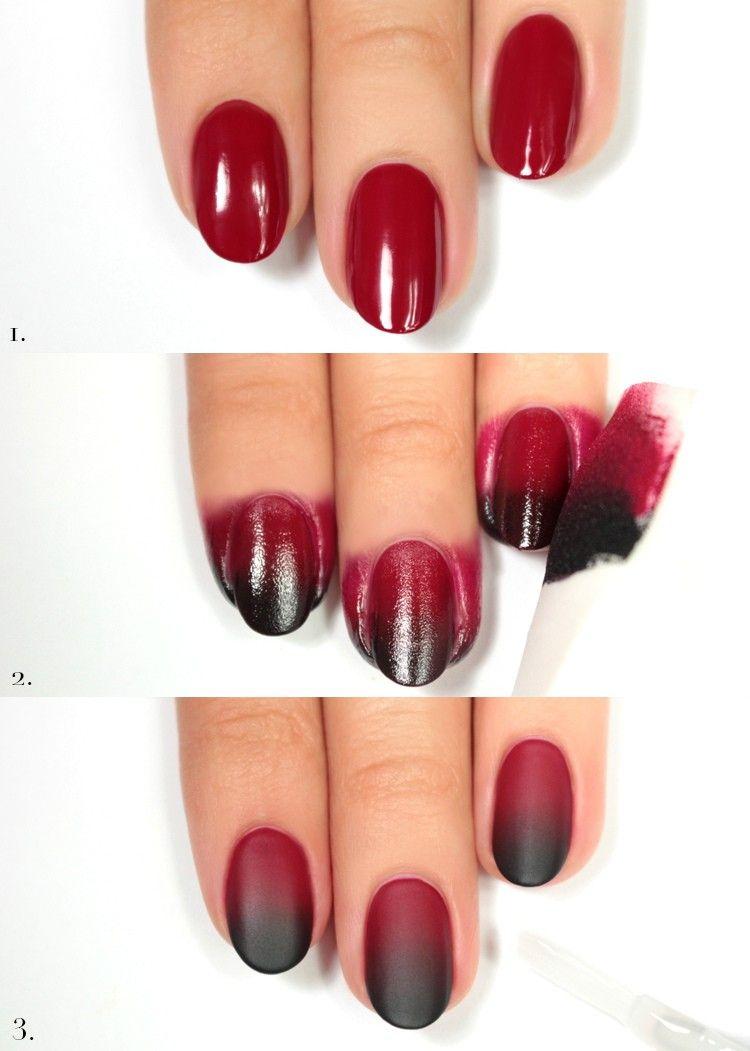 ombre-nails-anleitung-selber-machen-matte-nageldesign | beauty