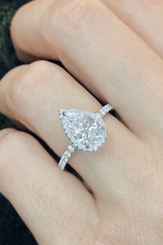 Pear Shape Diamond Ring Ascotdiamonds Pear Shaped Engagement Rings Engagement Ring Shapes Pear Shaped Diamond Ring