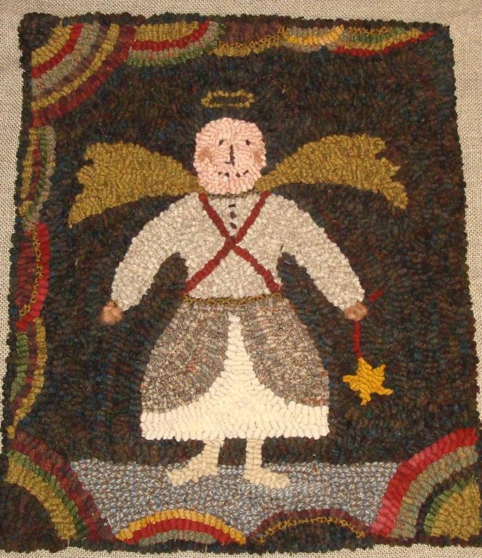 Free Rug Hooking Patterns Snow Angel
