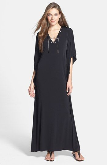 81b4d152b75 MICHAEL Michael Kors Chain Lace-Up Maxi Dress available at  Nordstrom