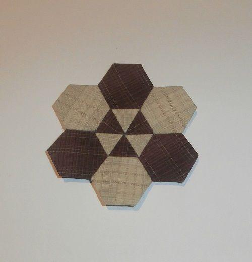 Hexagonos y rombos hechos con nuestro producto Templatesquick ®™ REF: TI30H y TI30R