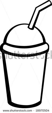 Cup Straw Clipart