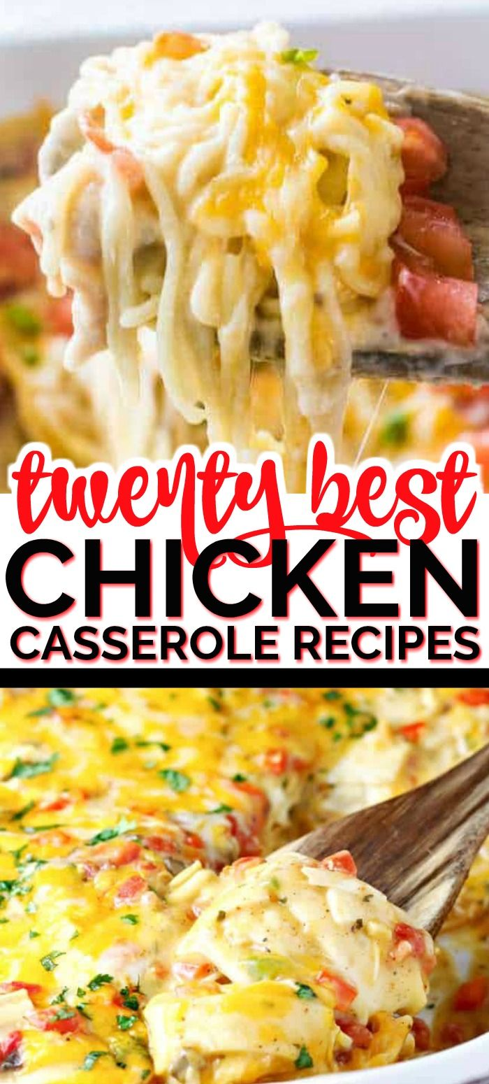 TWENTY BEST CHICKEN CASSEROLE RECIPES images