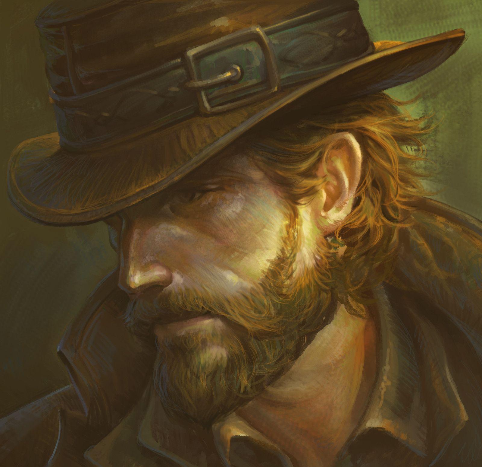 Cowboy Portrait Fantasy Concept Art