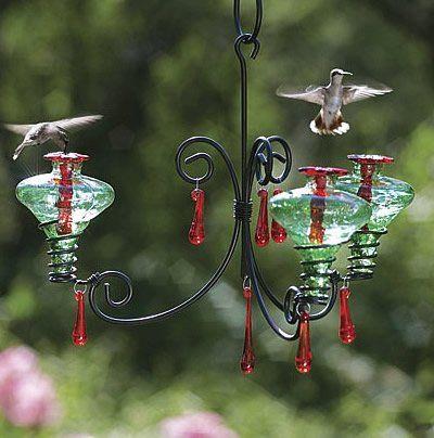 Mini Blossom 3 Chandelier Glass Hummingbird Feeders Humming Bird Feeders Blown Glass Chandelier